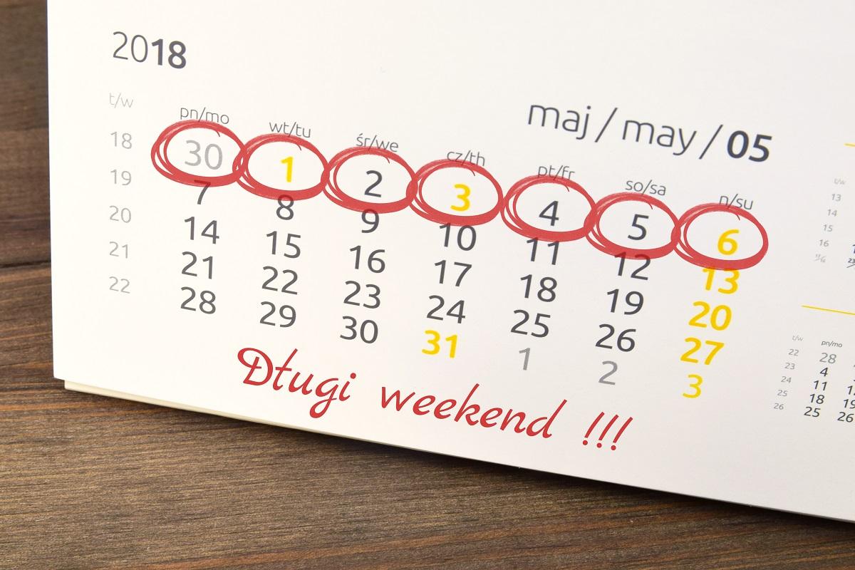 Długi weekend - majówka 2018