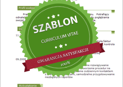 Szablon - 04 - CV - green