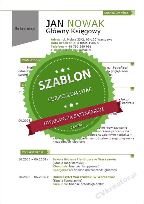 Kreatywny szablon dokumentów – 04 – green