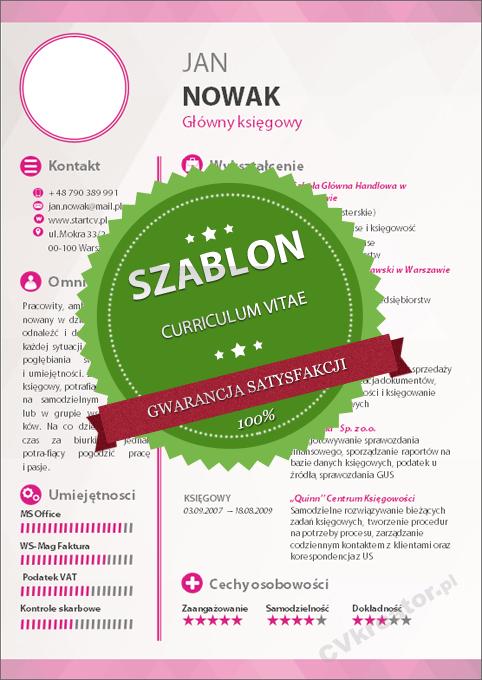 Kreatywny szablon dokumentów – 06 – pink