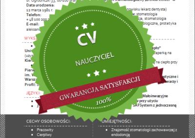 Wzór CV dla nauczyciela