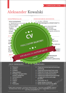 Wzór CV pracownik biurowy