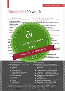 Wzór CV pracownik socjalny